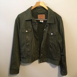 Levi's Green Classic Trucker Jacket | Large